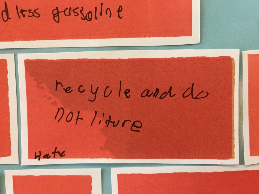 recycle and do not liture [sic]